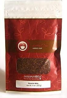 Mahamosa Phoenix Mills 8 oz (Vanilla, Caramel, Honey) - Rooibos Herbal Tea Blend Loose Leaf (Looseleaf), Dessert Tea