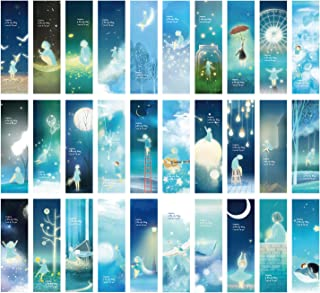 Night Sky Girl Theme Colorful Bookmarks, 30 PCS (Companion)