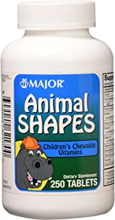 Major Pharmaceuticals 700665 Animal Shapes Children's Chewable Vitamin Tablet, Compare to Flintstones (Pack of 250)