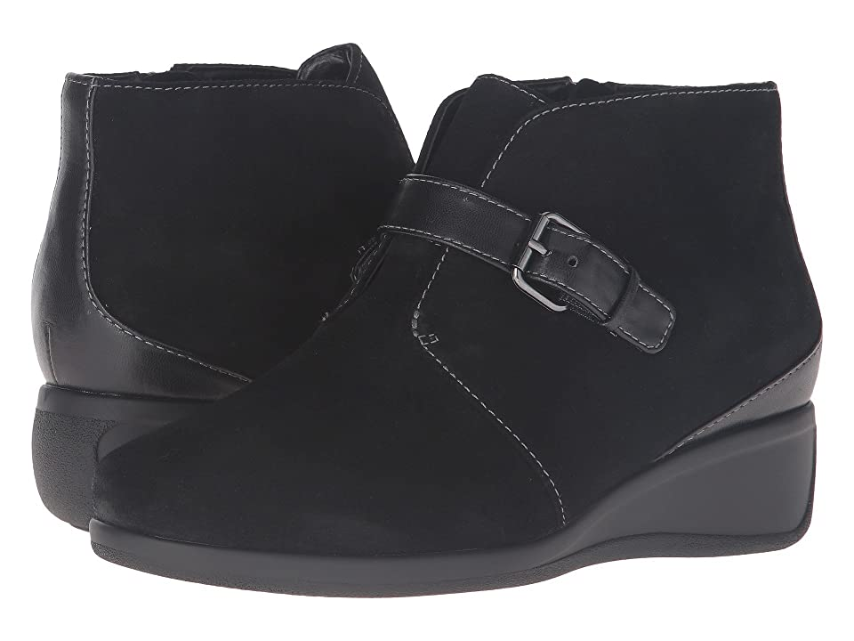 Trotters Mindy (Black Cow Suede Leather) Women