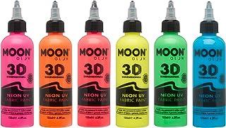 UV Glow: Pintura para telaNeón de 175ml, juego de 6, para camisetas, bricolaje, diseño de telas