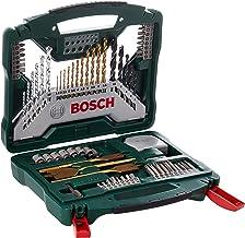 Bosch 70-delige X-Line Titanium boren- en schroefbitset (hout, steen en metaal, accessoire boormachine), 70-delig, meerkle...
