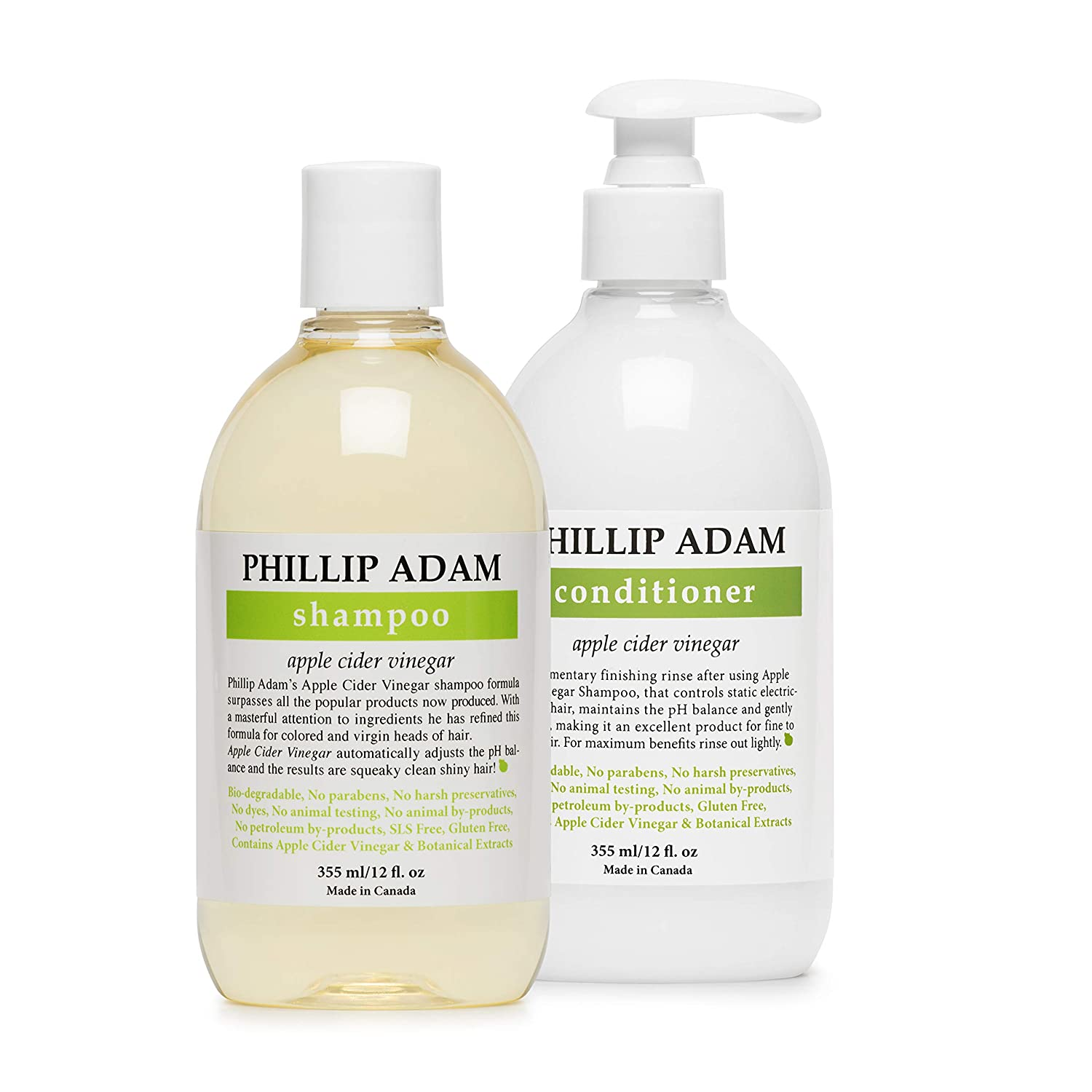 Phillip Adam Apple Cider Seattle Mall Vinegar Outlet ☆ Free Shipping Conditioner for and Shampoo Set