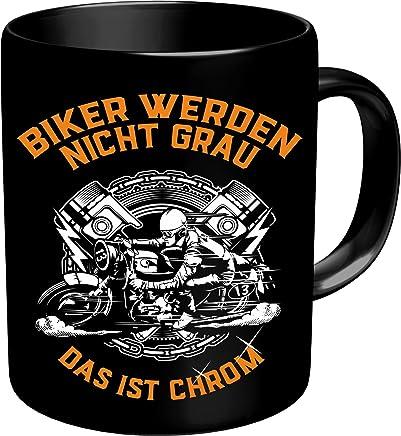 RAHMENLOS® Kaffeebecher für ältere Motorradfahrer: Biker werden nicht grau, das ist Chrom! Im Geschenkkarton 2639 preisvergleich bei geschirr-verleih.eu
