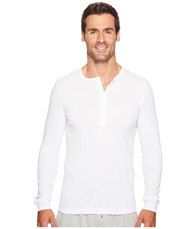 2(X)IST Essentials L/S Henley (White) Men