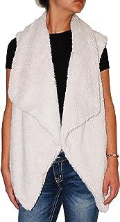 BB Dakota Women's Plus-Size Nils Sweater Vest with Faux Fur