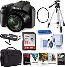 $324 » Panasonic Lumix DC-FZ80 4K Digital Camera, 18.1 Megapixel, 60x Zoom 20-1200mm Lens Starter Bundle with Case, Tripod, UV Fi...