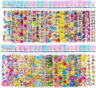 Best Sticker Sheets Stickers for Kids - 40 Different Kids Bulk Stickers 1200+ Fun Stickers for Girls Boy Stickers Kids Stickers for Toddlers Puffy Stickers Assorted Scrapbook Stickers Dress Up Sticker Review