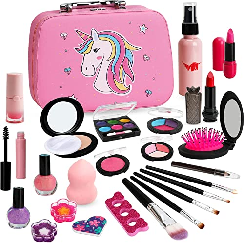 wholesale Flybay Kids Makeup Kit sale for Girls, Washable Makeup for Kids, discount Real Play Makeup Toys for Children, Little Girl Princess Pretend Make Up Set, Birthday Gifts for Girl Aged 4 5 6 7 8 sale