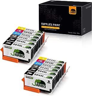 JARBO Compatible Replacement for HP 564XL Ink Cartridge, 5 Color (2 Sets+2 Black), for Photosmart 5520 6520 7520 5510 6510 7510 7525 B8550 C6380 Premium C309A C410A Officejet 4620 Deskjet 3520