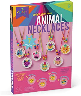 Craft-tastic – Design Your Own Animal Necklaces – Craft Kit Makes 7 Silly, Stackable, & Interchangeable Necklaces, Brown