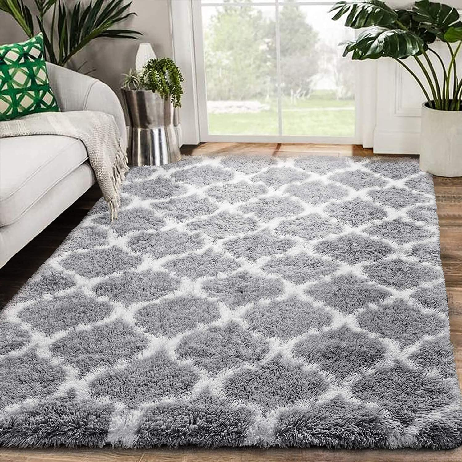 Zareas Super sale Modern Abstract Soft Fluffy Area Rugs 4'x Living for Room In a popularity