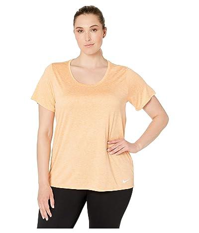 Nike Dry Training Top (Size 1X-3X) (Fuel Orange/Crimson Tint/White) Women