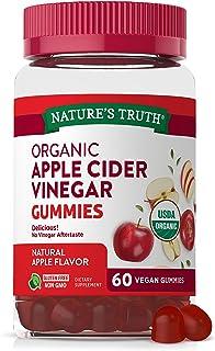 Organic Apple Cider Vinegar Gummies | 60 Count | Vegan, Gluten Free & Non-GMO | USDA Certified Organic | Apple Flavor | by...