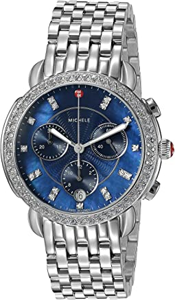 Michele Sidney Diamond Navy Dial Watch