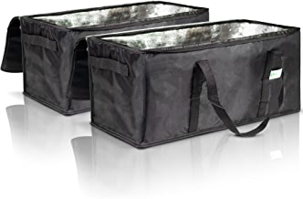 """Commercial Insulated Food Delivery Bags - 22"""" x 10"""" x 10"""" Waterproof Delivery Bags for Hot Food Delivery - Premium Food Warmer Bags for Uber Eats and Doordash Food Delivery"""