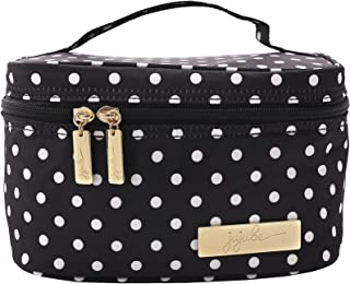 JuJuBe Be Ready Travel Make-Up/Cosmetic Bag, Legacy Collection - The Duchess - Black with White Polka Dots