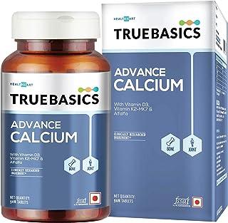 TrueBasics Advance Calcium Supplements For Women and Men, with Vitamin D3, Vitamin K2-MK7, Magnesium, Zinc, Alfalfa, Clini...