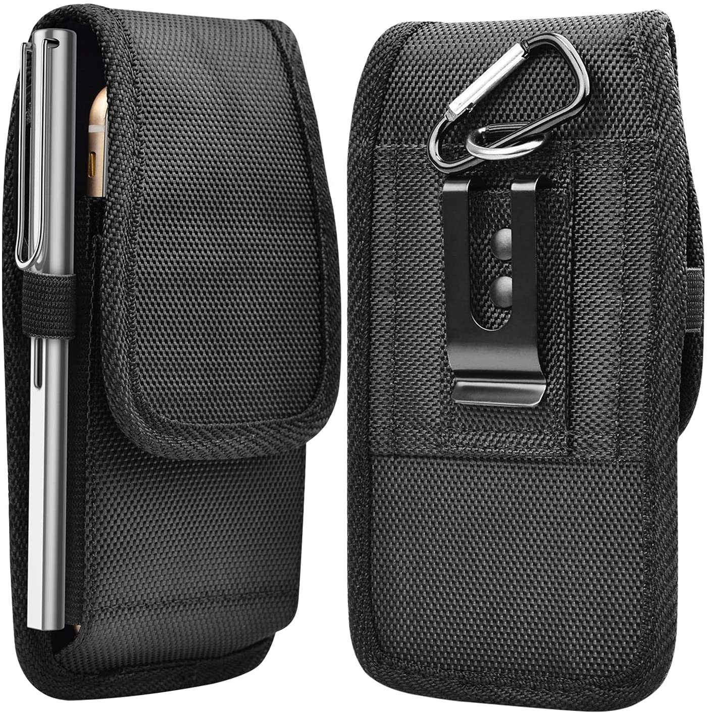 Njjex Cell Phone Holster for iPhone 13 Pro Max 12 11 XS XR 7 8+ Samsung Galaxy S21 Ultra S20+ S10 S9 Note 20 10+ A01 A11 A21 A51 A71 A02S A12 A32 A42 A52 Belt Clip Holster Phone Pouch Carrying Holder