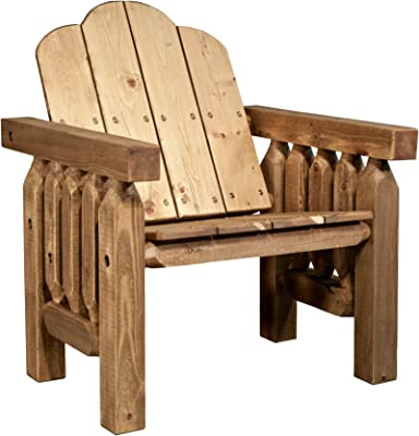 Amazon.com : Twin Pack Fir Wood Adirondack Chairs : Garden & Outdoor