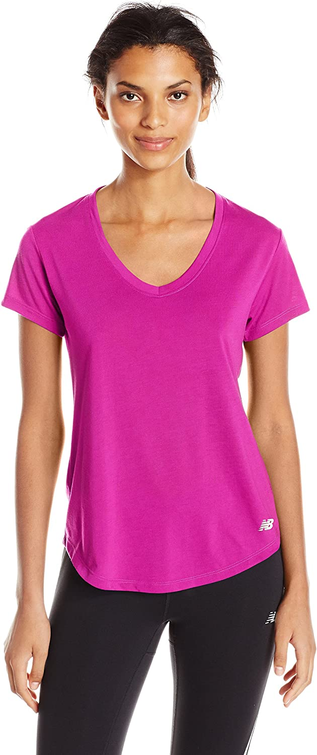 New Balance Women's Core Shorts Sleeve Performance Top