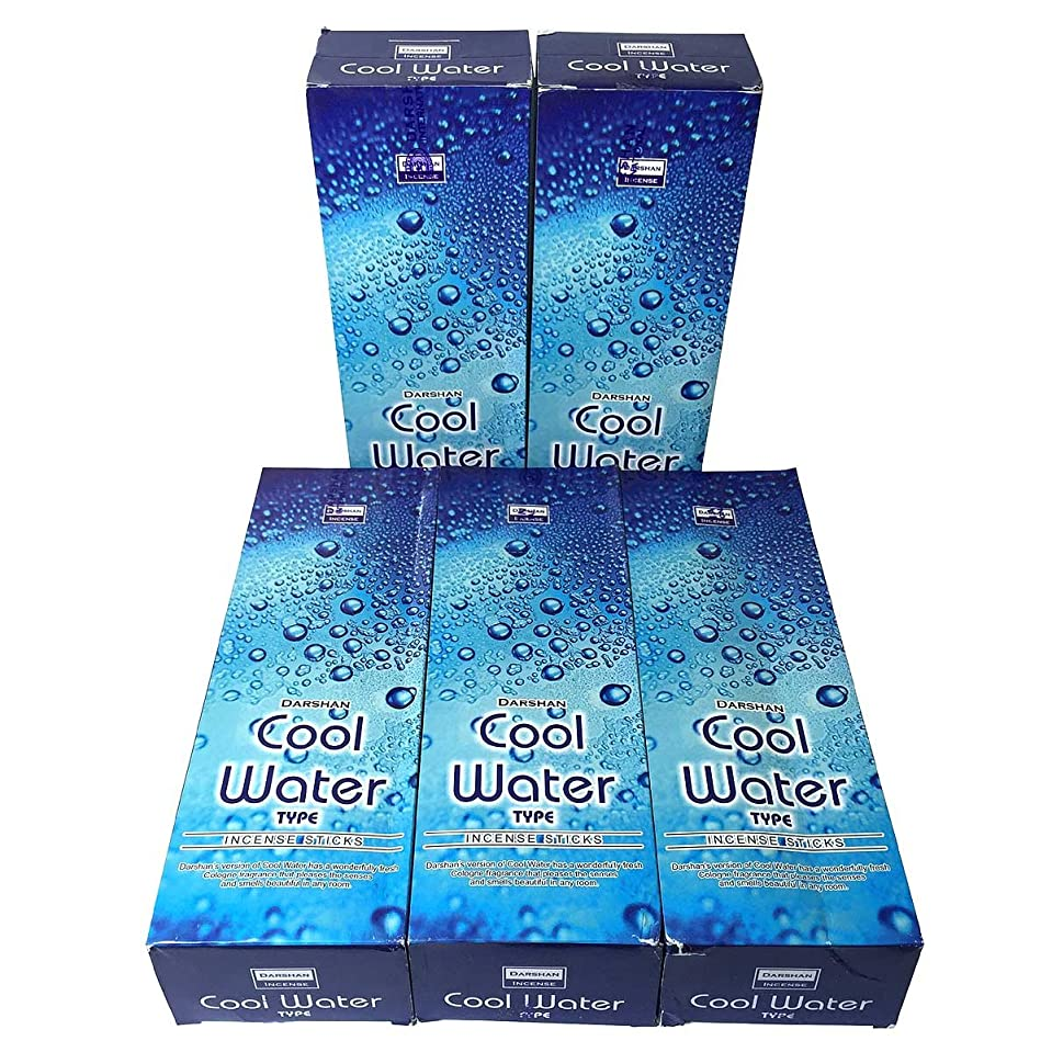 シンプトン彼らのものフィドルクールウォーター香スティック 5BOX(30箱)/DARSHAN COOL WATER/ インド香 / 送料無料 [並行輸入品]