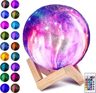 Allnice Moon Lamp 16 Colors 3D Printed Moon Lamp USB Rechargeable LED Night Light with Stand Dimmable Touch Control Table Lamp Brightness Light for Festival Kids Christmas Birthday Party