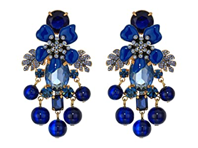 J.Crew Flo Pave and Pearl Earrings (Navy) Earring