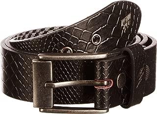Adder Belt - Black Snakeskin