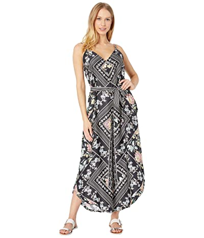 Nanette Lepore Diamond Vines Jumpsuit Cover-Up with Removable Belt (Multicolored) Women