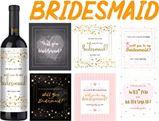 Will You Be my Bridesmaid Wine Bottle Labels + GIFT – Lovely Bridesmaid Gifts and Bridesmaid Proposal Idea - Perfect For Bridal Party Gifts and Wedding Party Supplies