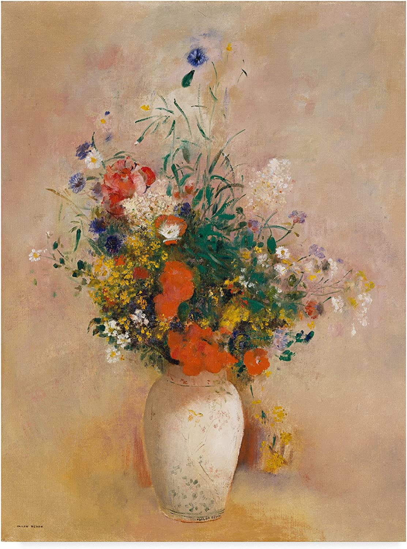 Trademark Fine Art Vase of Flowers by Odilon Redon, 14x19, Multicolor
