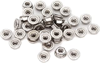 Lock Nut Serrated Flange Zinc 10-24 #10 Plated Hardened Steel 100 Piece Qty Pack