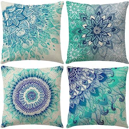 18/'/' Ethnic Mandala Cotton Linen Throw Cushion Cover Pillow Case Home Sofa Decor