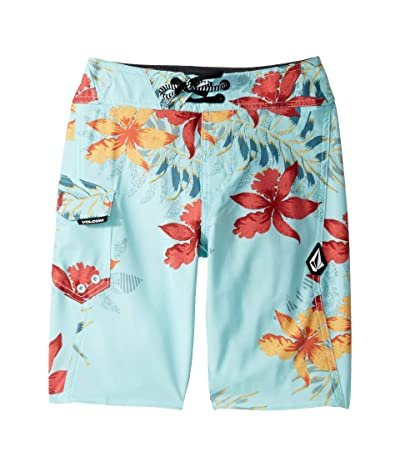 Volcom Kids Wave Fayer Mod Boardshorts (Big Kids) (Seaglass) Boy
