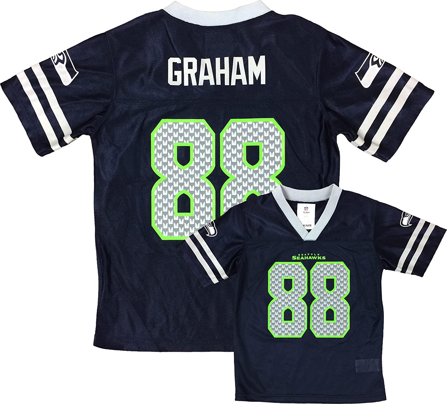 Outerstuff Jimmy Graham Seattle Seahawks Navy Blue Player Home Jersey Youth