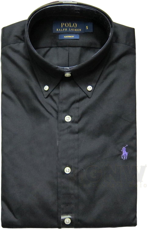 RALPH LAUREN Polo De Manga Larga Hombre A Medida Camisa Negra, Azul Marino, Blanco S,M,L,XL,XXL