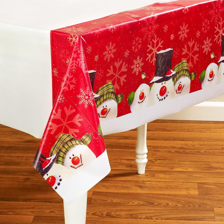 Creative Congreening 208047 Christmas Snowman Carols - Plastic Tablecover