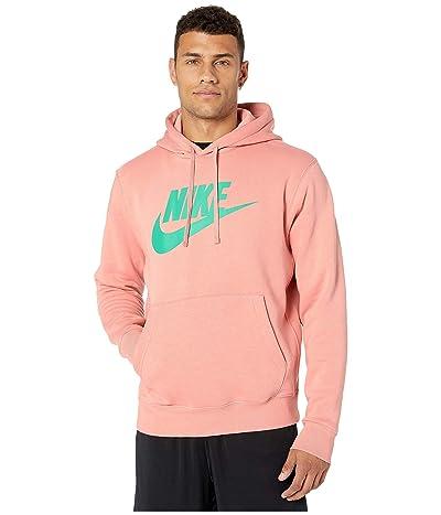 Nike NSW Club Hoodie Pullover Graphics (Pink Quartz/Pink Quartz/Kinetic Green) Men