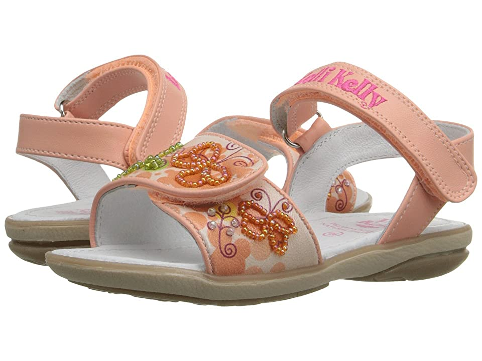 Lelli Kelly Kids Giardino Sandal (Toddler/Little Kid) (Peach Fantasy) Girls Shoes