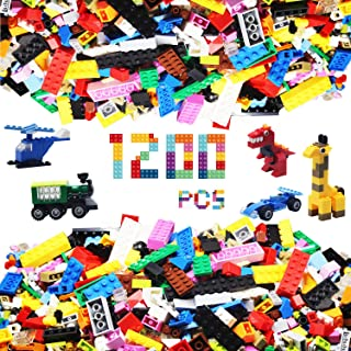 Alapa Building Bricks - 1200Piece Toys Bulk Block Set with Wheels, Tires, Axles, Little Peoplepiece - Classic Colors - Building Blocks Compatible with All Major Brands