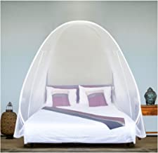 EVEN NATURALS Luxury Pop Up Mosquito Net Tent, Large: for Twin to King Size Bed, Finest Holes, Canopy, Insect Screen, Fold...