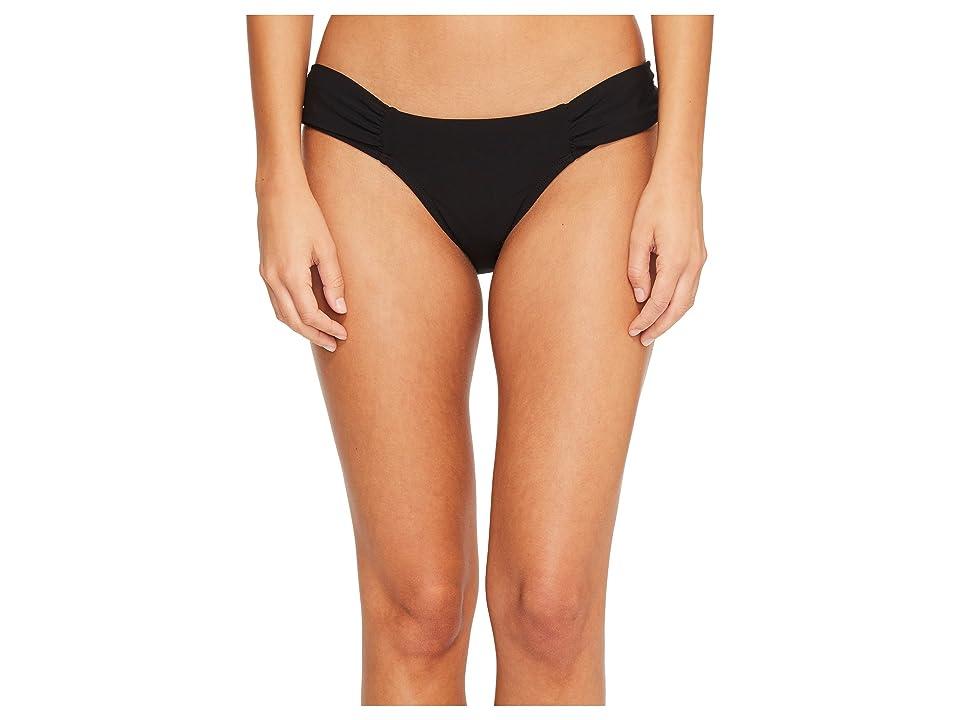 Robin Piccone Ava Tab Side Bikini Bottom (Black) Women