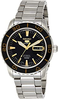 SEIKO Men's Automatic Watch, Analog Display and Stainless Steel Strap SNZH57J1