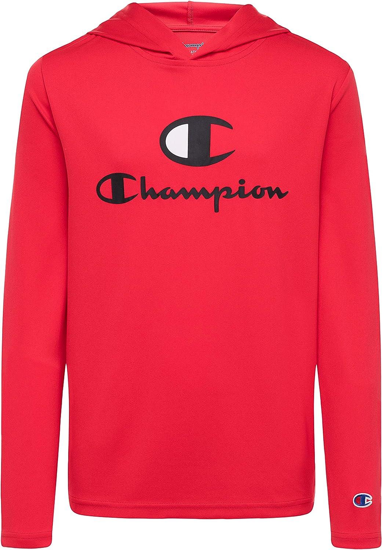 Champion Kids Long Sleeve Hooded Shirt | Lightweight | Boys Clothes | Activewear