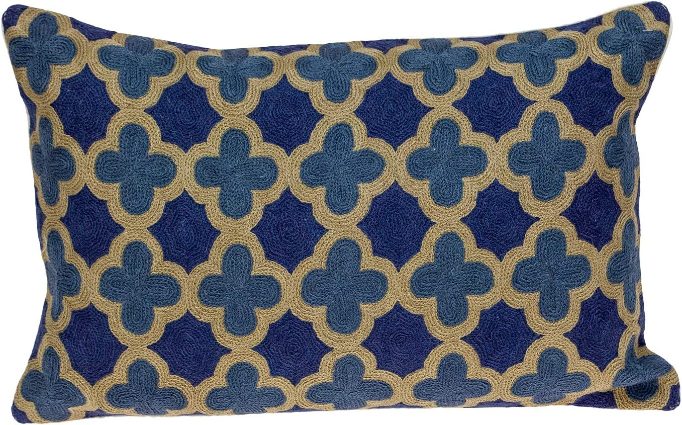 Parkland Ranking Bargain TOP7 Collection Calix Blue Down Throw Pillow Filled