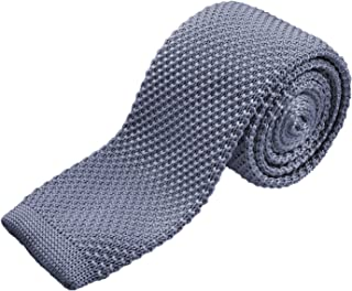 Vintage Knit Tie For Groom Groomsman Skinny Casual Neckties