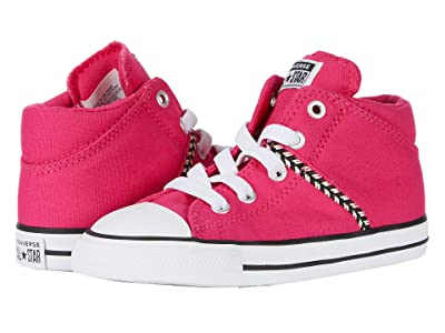 Converse Kids Chuck Taylor All Star Madison Friendship Bracelet Mid (Infant/Toddler) (Cerise Pink/Ghost Green/White) Girl