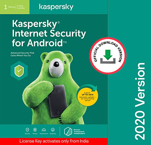 Kaspersky Internet Security for Android Latest Version- 1 Device, 1 Year (Code emailed in 2 Hours - No CD) 1