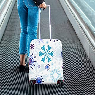 pattern with White floral pattern Suitcase Protectors Travel Luggage Covers Fit 18-28 Inch Luggage